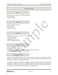 demolition scope of work template - specifications protect llc